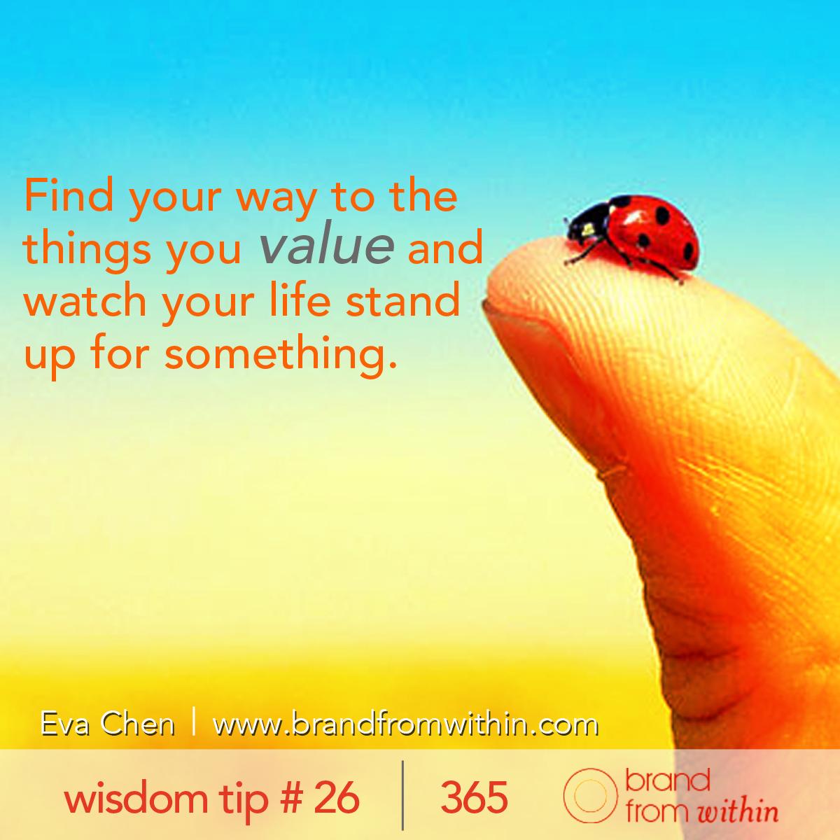 DAY 26 WISDOM TIP